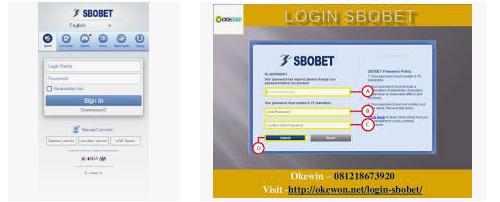 form yang harus diisi untuk login sbobet